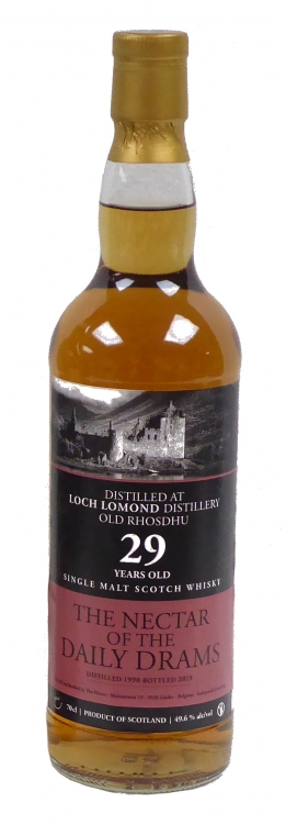 Old Rhosdhu Loch Lomond Daily Drams 1990 29Y 49.6°